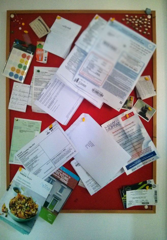 messy noticeboard
