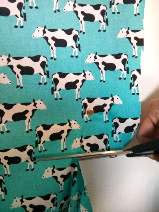 cow fabric noticeboard
