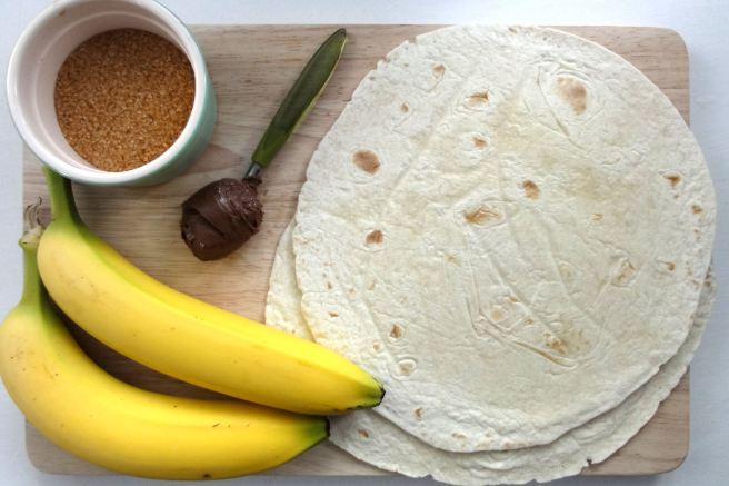 banana-nutella-dessert-quesadillas-ingredients