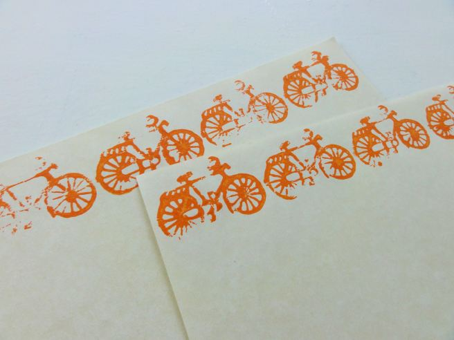hand stamped paper
